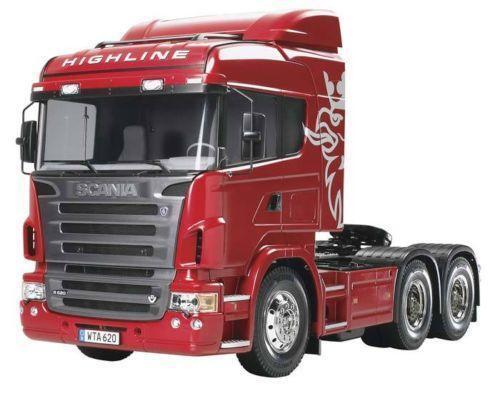 Semi Truck That S Also A Toy Car Holder : Tamiya truck scania ebay