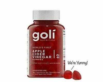 Goli Organic Vegan Apple Cider Vinegar Gummies FREE Same Day Shipping Mon-Sat