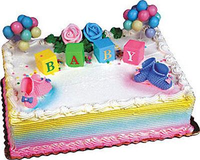 BABY BLOCKS #2 Cake Kit Shower Topper Decoration Decorating Set Bakery Supplies - Baby Shower Cake Kits