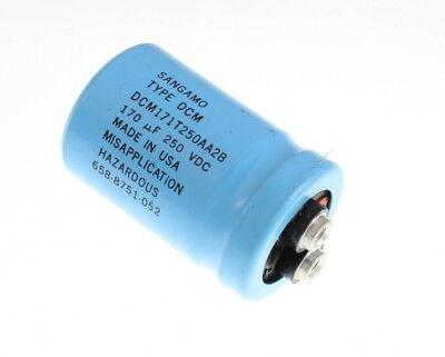 Sangamo 170uf 250 Vdc Large Can Electrolytic Capacitor Dcm171t250aa2b
