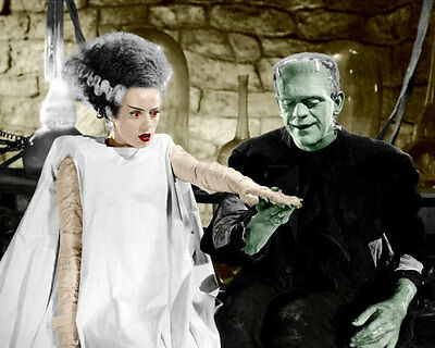 Karloff Lanchester Photo 8x10 Frankenstein COLORIZED - Buy 2 Get 1 Free