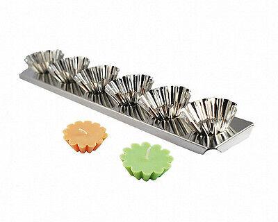 - FLOATER (Tart) Candle Mold 6-up Metal Strip
