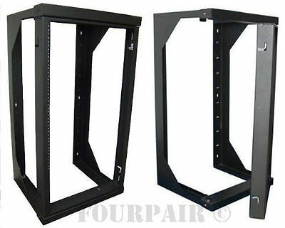 Wall Mount Swing Out Gate Network IT Steel Cabinet Data Rack - 25U - 25