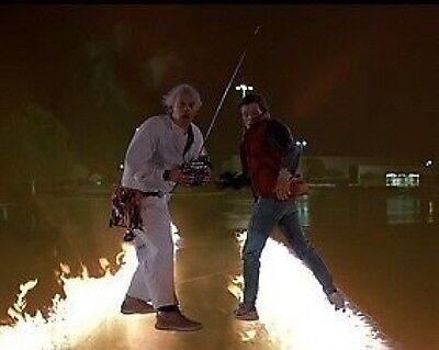 Zurück in die Zukunft Marty und Doc Fernbedienung 10x8 Foto (Marty Und Doc)
