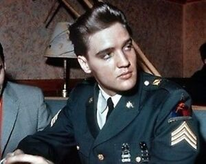 Elvis Presley Awesome in Army Photo