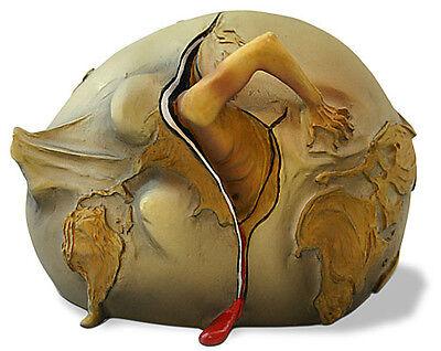 Child Sculpture - Salvador Dali Geopolitical Child Watch Birth Sculpture Statue Art