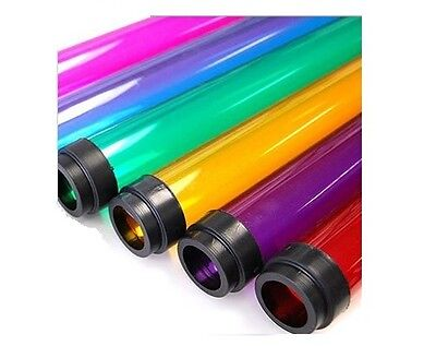 """T12 4' ft COLORED 48"""" Tube Guard Fluorescent Plastic Light Cover Sleeve (QTY 24)"""