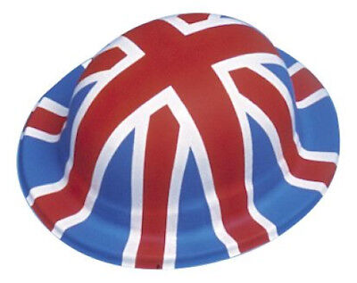 Plastic Union Jack Bowler Hats Box of 12 - Royal Wedding](Plastic Bowler Hats)