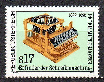 AUSTRIA - 1993 PETER MITTERHOFER / TYPEWRITER MI. 2088 MNH