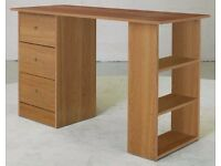 WORK DESK Malibu 3 Drawer - Beech effect