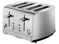 Russell Hobbs 18117 Deluxe 4 Slice Toaster - Stainless Steel
