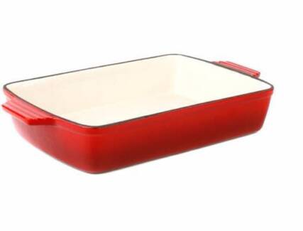 Cast Iron Cookware 33Cm - Roasting Pan - Red