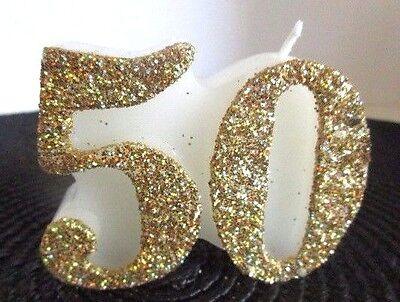 Kerze zum 50.Geburtstag Dekoration /Geschenk zum 50.Geburtstag /goldene Hochzeit