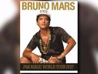 4x Bruno Mars 24k magic world tour standing tickets