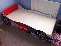 Racing Car Toddler Bed, Barely used