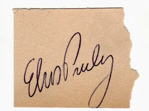 Elvis Presley Billet de Concert 1956 Cotton Bowl Stadium Signé