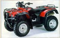 2001 HONDA RUBICON TRX500FA FOR PARTS (STOCK PHOTO)