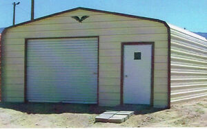 18 x 21 enclosed Metal Carport Cover, Garage, INSTALLED - View our eBay STORE!