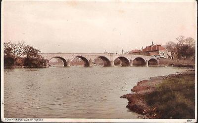 Builth Wells, Powys - Town Bridge - postcard, local pmk 1943