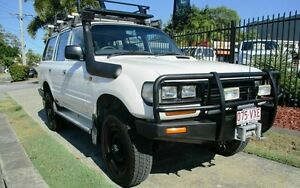 1995 Toyota Landcruiser HZJ80R DX (4x4) White 5 Speed Manual 4x4 Wagon Springwood Logan Area Preview