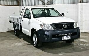 2010 Toyota Hilux TGN16R MY10 Workmate 4x2 White 4 Speed Automatic Cab Chassis Thomastown Whittlesea Area Preview