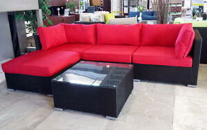 Roma – Patio Furniture Red Sectional Sofa