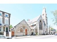 Delightful large 3 double bedroom church conversation,Church Studios, Camden Park Road,Camden, NW1