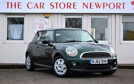 MINI HATCH ONE 1.6 ONE D 3d 90 BHP ONE OWNER FROM NEW! 21K MILES (green) 2012