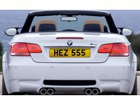 Cherished Number Plate - HEZ 555
