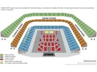 Michael Buble tickets x 2