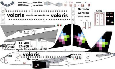 Volaris Airbus A 319 Decals For Revell 1 144 Kit