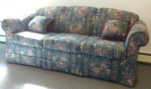 Sofa, Love Seat and Wingback - Colourful and Very Comfortable