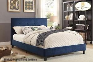 QUEEN SIZE BED FRAME - FOR RUSTIC WOOD OR TUFTED UPHOLSTERED FABRIC HEADBOARDS - VISIT KITCHEN AND COUCH	(BD-1048)