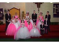 wedding dress set ,crowns ,flowers ,gloves ,all