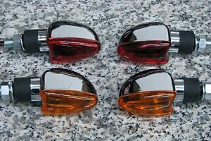 Set of Four CHROME ARROW MOTORCYCLE TURN SIGNALS