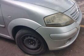 Citroen C3 O/S Front Wing In Silver Breaking For Parts (2002)