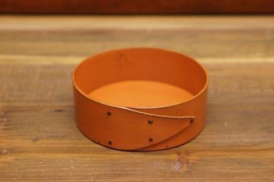 LeHay Shaker Boxes Round Pincushion Base - Orange Pumpkin