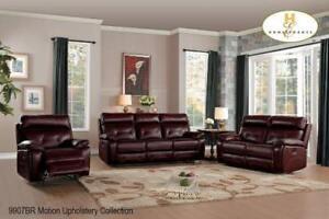 Genuine Leather Brown 3 PC Recliner Set on Big Sale (BD-2482)