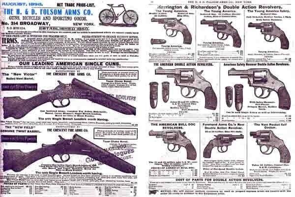 H & D Folsom 1898 Gun Catalog