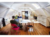 Affordable desks available in friendly, quiet & lovely coworking space near Whitechapel E1