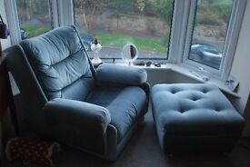 Very comfy armchair and footstool