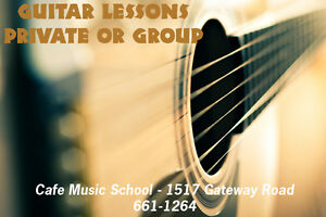 GUITAR LESSONS - at your home or our studio!