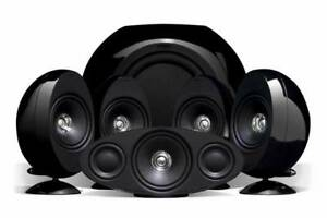 KEF 3005SE 5.1 Audiophile Surround Sound System (Black)