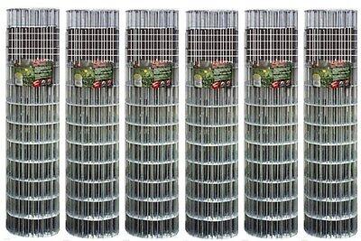6 Rolls 309302a 30 X 10 16 Ga Galvanized Cage Wire 1 X 12 Mesh Fencing