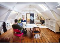 Affordable desks available at peaceful & friendly coworking space in E1 Whitechapel/Stepney Green