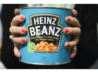 HEINZ BAKED BEANS 2.5 kg COMMERCIAL TINS JOB LOT . BUNDLE 6 TINS .