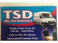 TSD removals 2 man white van man hire rubbish removal house move removals Stoke/Staffs nationwide