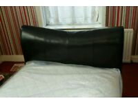 Leather double bed frame