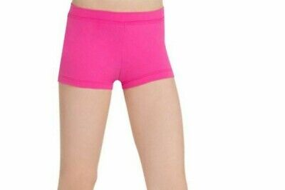 Hot Pink Boy Cut Shorts Low Rise CAPEZIO Nylon Spandex Adult Child Size NWT ()
