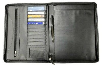 Proaid Professional Business Leather Resume Organizer Portfolio Folder Document